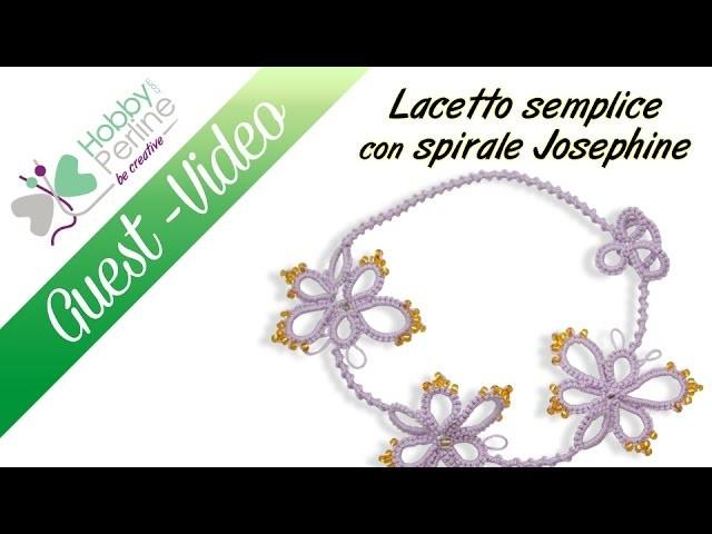 Laccetto semplice con spirale Josephine   TUTORIAL - HobbyPerline.com