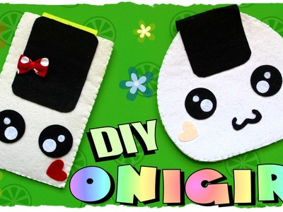 Tutorial: Astuccio in feltro Onigiri kawaii | Onigiri Felt Case | Collab. Fimokawaiiemotions