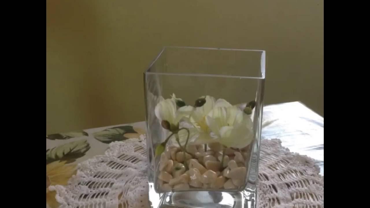 Come creare un centrotavola floreale sommerso.How to make Underwater flower centerpiece