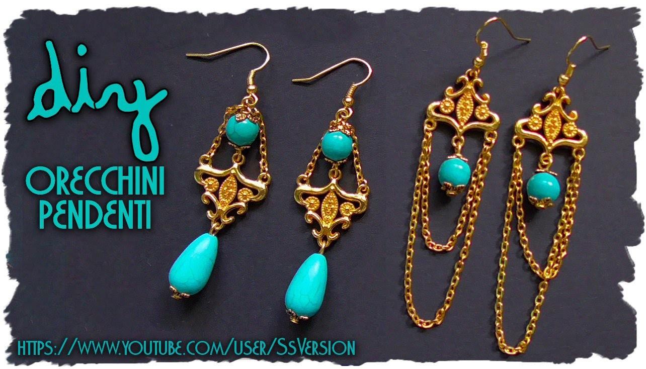 Tutorial: Orecchini Pendenti Eleganti ★ Gioielli semplici Vintage ★ DIY Earrings