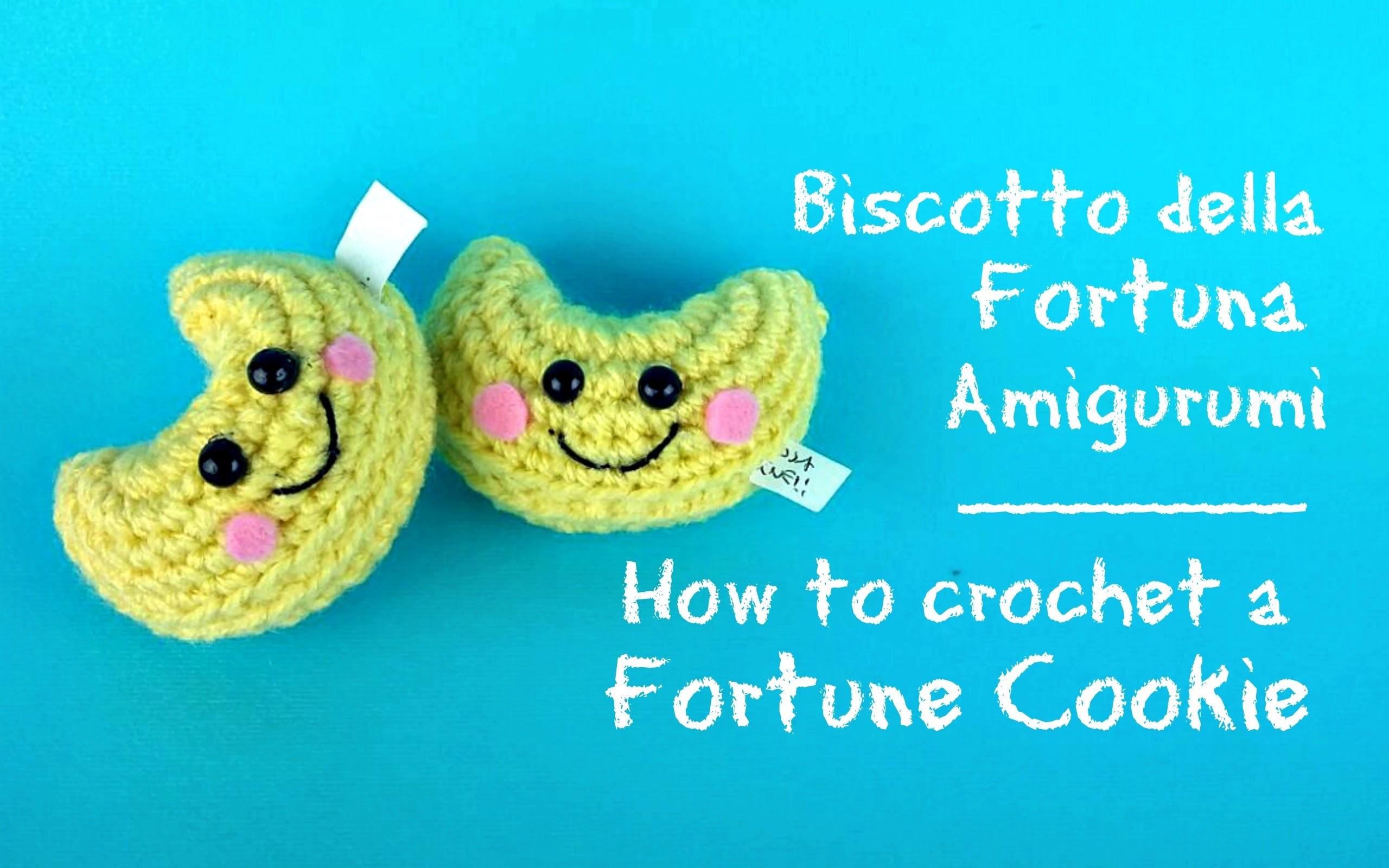 Biscotto della fortuna Amigurumi   How to crochet a Fortune Cookie