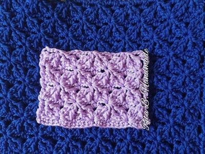 Tutorial Punto rombostella uncinetto - Crochet