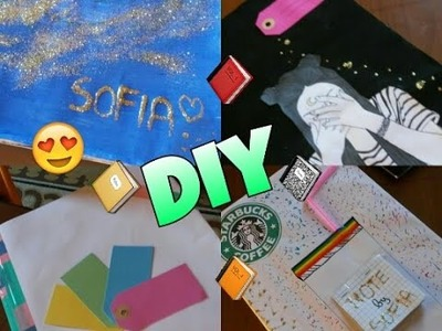 4 FACILI DIY PER PERSONALIZZARE I QUADERNI | back to school ||Sofia