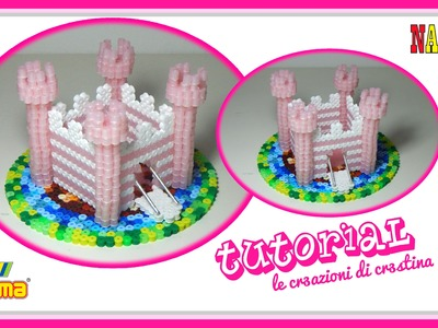 CASTELLO 3D con Perline Hama beads.Nabbi.Pyssla - DIY Fairy Castle Tutorial