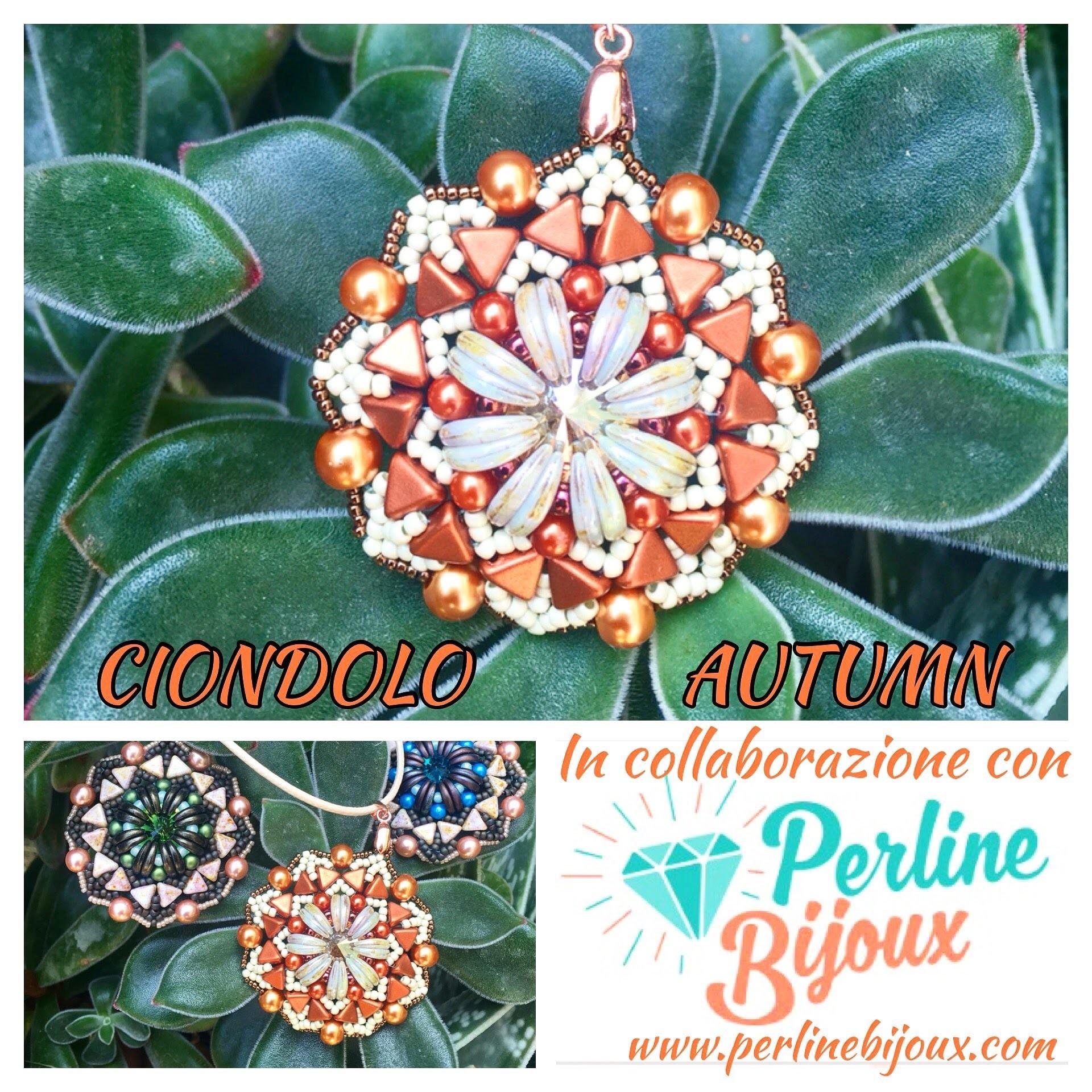 DIY Tutorial Ciondolo Autumn collaborazione con sito Perlinebijoux