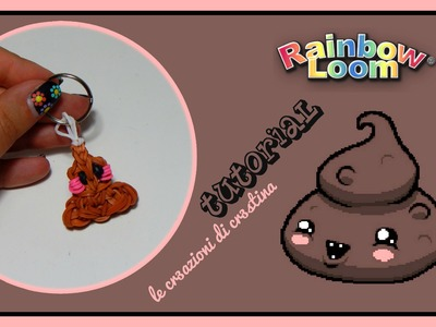 Logo YouTube Fa Cagare con Elastici RAINBOW LOOM - DIY Kawaii Poop Charm Tutorial