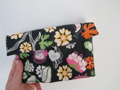 DIY pochette facilissima: pronta con solo 3 cuciture!