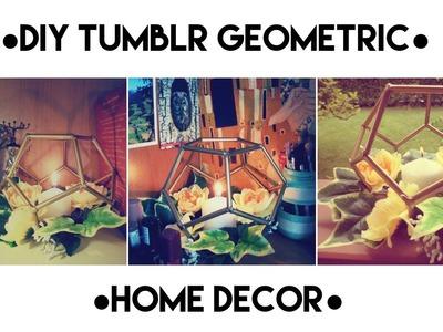 Porta candela con gabbia geometrica DIY
