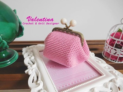 Tutorial.Diy Portamonete.Coin purse Uncinetto.Crochet Base Quadrata (Provvisorio)