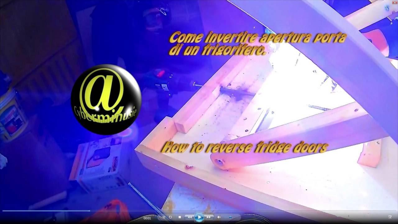Tutorial invertire apertura porte frigorifero fai da te - Cambiare apertura porta frigorifero ariston ...