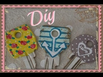 DIY- chiavi decorate Shabby chic-Marines-Flower vintage
