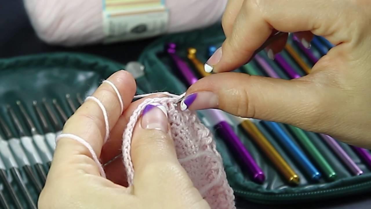 Scarpette ad uncinetto con PomPom - Seconda Parte - DIY baby chrochet pink Shoes - Full HD 1080p