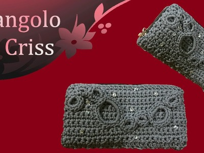 "Portafoglio all'uncinetto ""Silver radius""  - wallet to crochet - cartera de ganchillo"