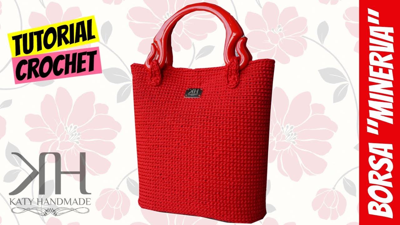 Tutorial Uncinetto Borsa Minerva Lavorazione Su Rete Crochet Bag