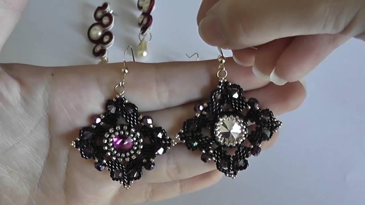 VIDEO CREAZIONI #4 (Soutache, tessitura, bead embroidery e bead crochet)
