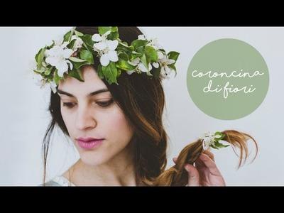 Come fare una coroncina di fiori || tutorial semplice fai da te || how to make a flower crown