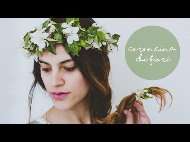 Come fare una coroncina di fiori    tutorial semplice fai da te    how to make a flower crown