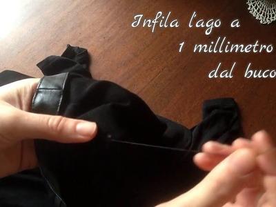 Come riparare una maglia bucata con ago e filo! How to repair a T-shirt hole