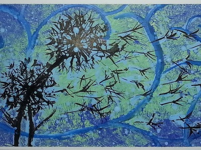 How to paint abstract dandelions