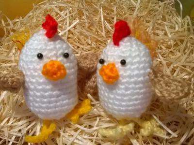 Tutorial Gallina Uncinetto - Amigurumi Hen Crochet -Pollito Polluelo Crochet