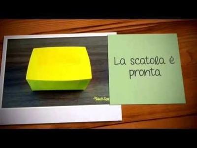 """SCRAPBOOKING: Scatola """"Primo giorno di scuola"""" - Box """"First day of school"""""""