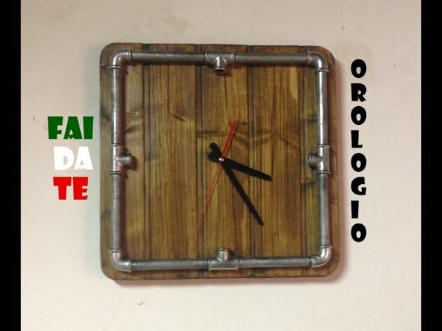 FAI DA TE - Orologio da parete ''steampunk style'' (DIY - Wall clock ''steampunk style'')