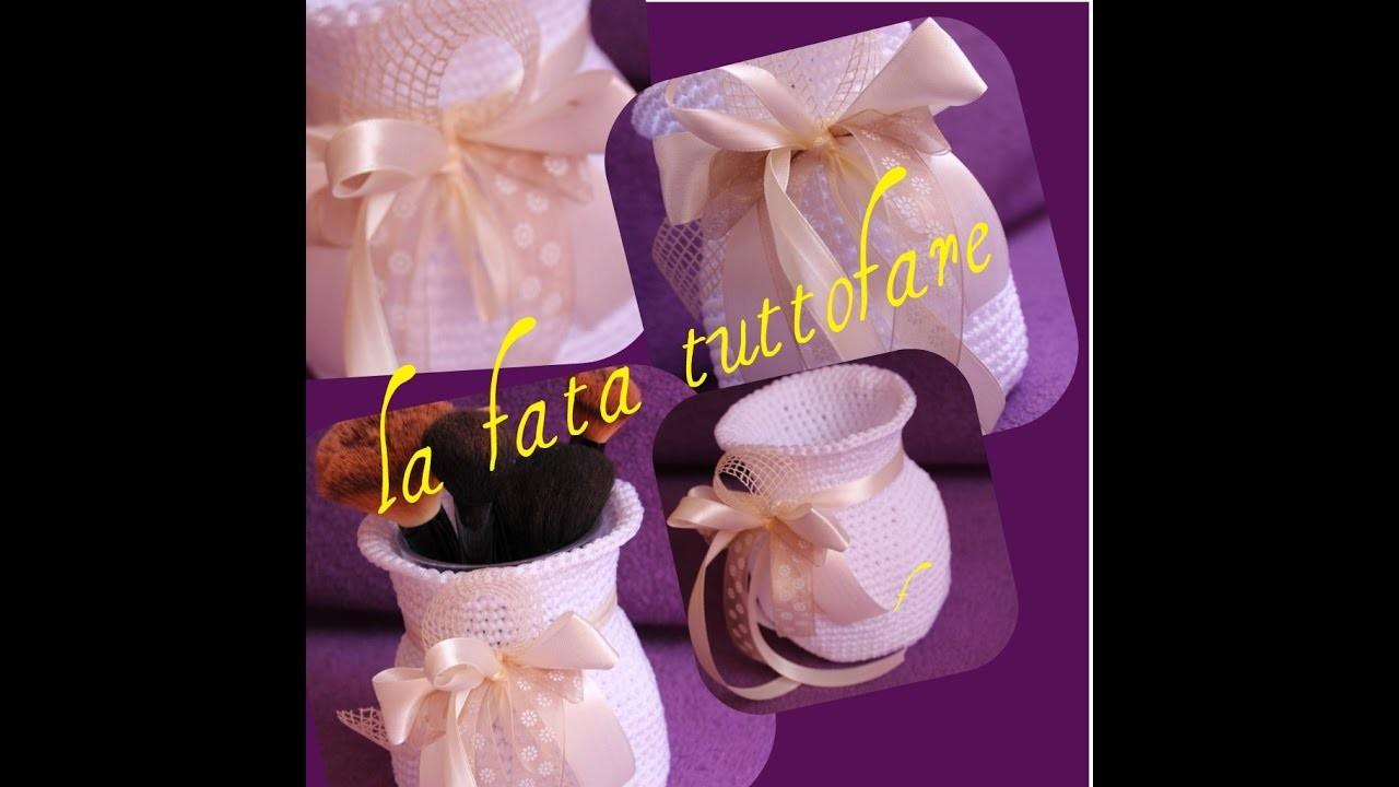 Tutorial: vaso all'uncinetto( vase crochet)