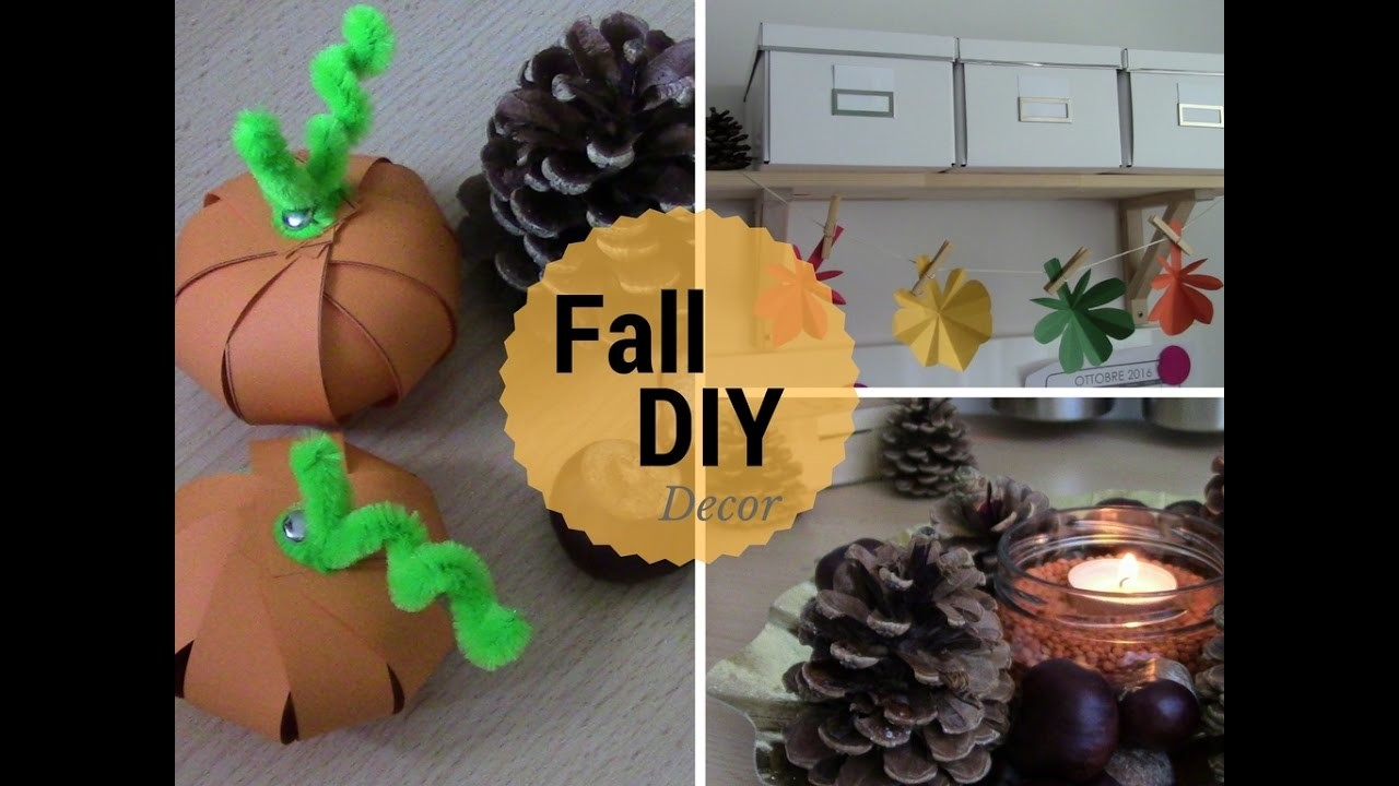 3 DiY Fall Decor Ideas. 3 Idee per l´autunno