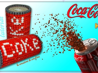 Temperino COCA COLA Lattina 3D con Perline HAMA BEADS.PYSSLA - DIY Back to School Tutorial