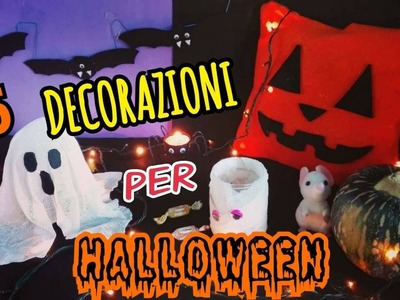 5 DECORAZIONI PER HALLOWEEN fatte in casa(DIY ROOM DECOR HALLOWEEN ITA) Iolanda Sweets