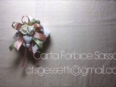 How to: bomboniera con confettata fiori e gessetto mongolfiera