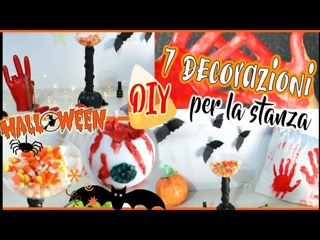 DIY HALLOWEEN 7 DECORAZIONI PER LA STANZA | Room Decor ITA | Nancy Joli Bijoux