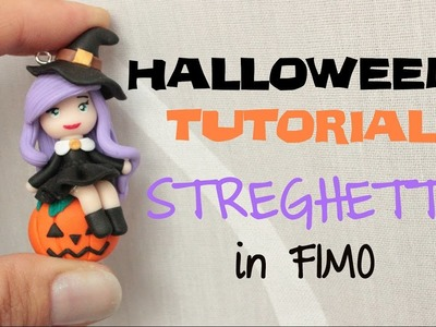 Streghetta in Fimo - Witch in Polymer Clay | Sissy's Creations