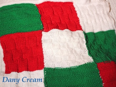 Copertina patchwork ai ferri per bebè (ma non solo) - Cómo tejer una manta patchwork