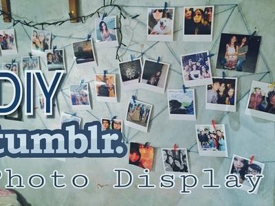 DIY ROOM DECOR - Wall Photo Display - Tumblr Inspired ♡
