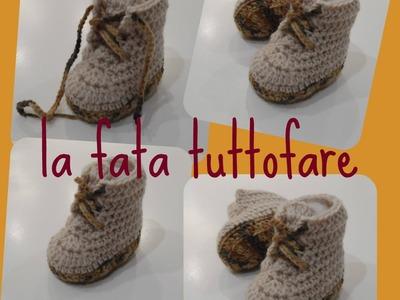 Tutorial: scarpina tipo boots (boots crochet)