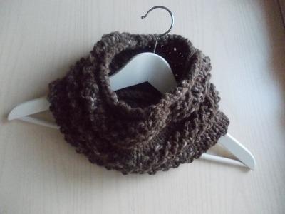 Ferri Circolari - tecnica continentale | Scaldacollo Uomo | Punto Chicco di Riso - Knitting |