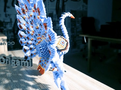 ORIGAMI 3D PEACOCK