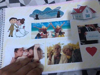 Scrapbook para 1 ano de namoro.