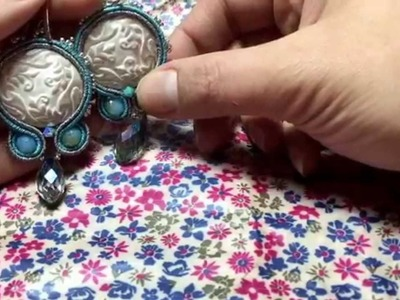 Video creazioni.  Peyote embroidery soutache.  Orecchini girondoli bracciali