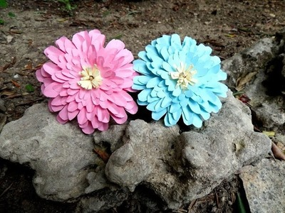 Tutorial fiore di dalia di carta, idea regalo, decorazione primavera - Paper flower