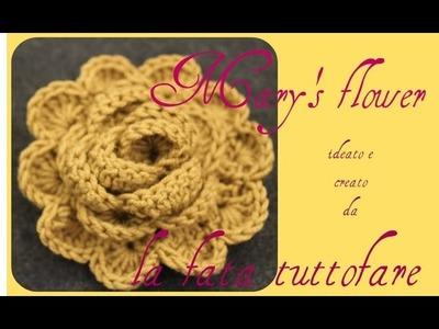 Tutorial: fiore mantella.mary's flower