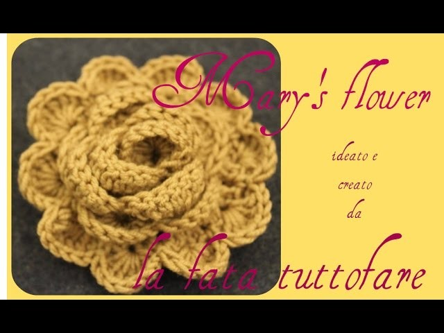 Tutorial: fiore mantella.mary's flower