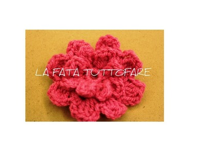 Tutorial: fiore uncinetto (flower crochet)