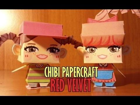CHIBI PAPERCRAFT tutorial [montaggio] - RED VELVET (Wendy & Yeri)