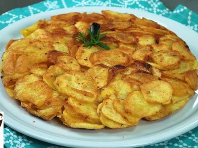 Frittata di patate, croccante e senza uova – Antipasti sfiziosi e semplici (tortino di patate)