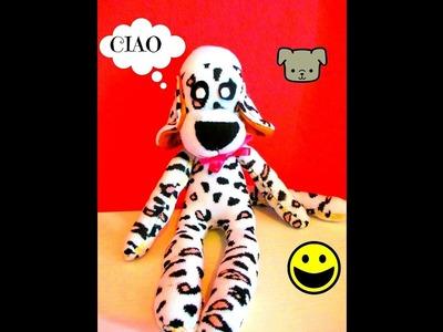 COME FARE UN CAGNOLINO UTILIZZANDO UN PAIO DI CALZINI---how to make a puppy dog with socks