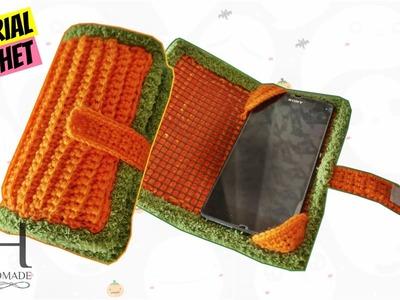 Tutorial uncinetto porta smartphone | Crochet phone case || Katy Handmade
