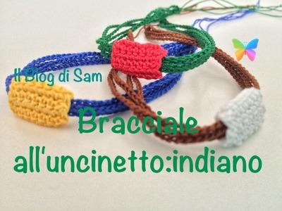 Spiegazione del bracciale all'uncinetto: indiano