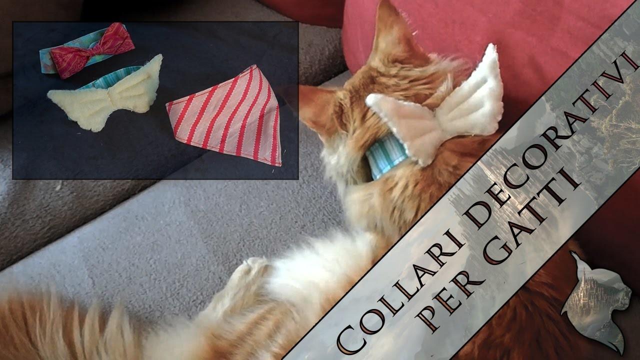 [TUTORIAL] Collarini per gatti fai da te - DIY cat's collars